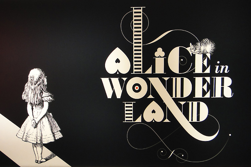 Alice in Wonderland exhibition at the British Library in London - celebrating 150 years of Lewis Carroll's publication