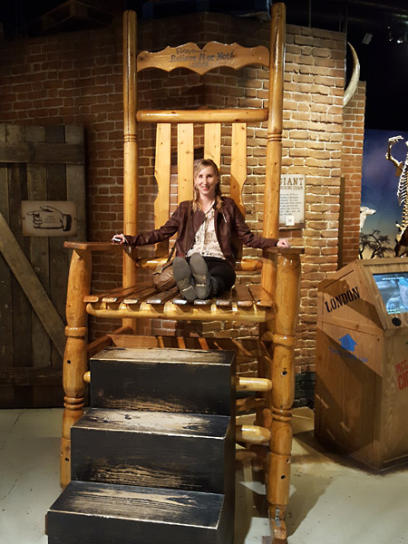 Giant rocking chair at Ripleys Believe it or not in London