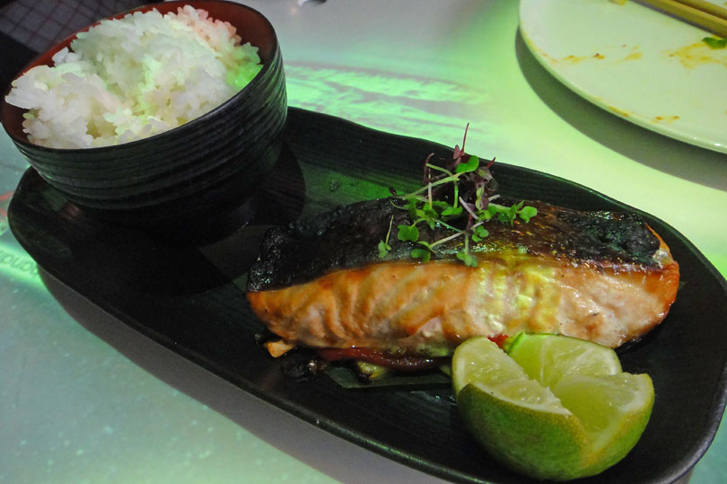 Teriyaki salmon at Inamo in London