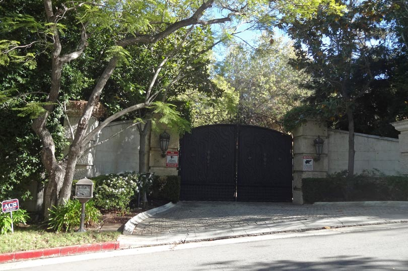 The gate to Michael Jackson's former home in Hollywood