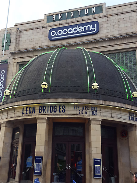 The o2 Academy in Brixton, London. Leon Bridges is playing.