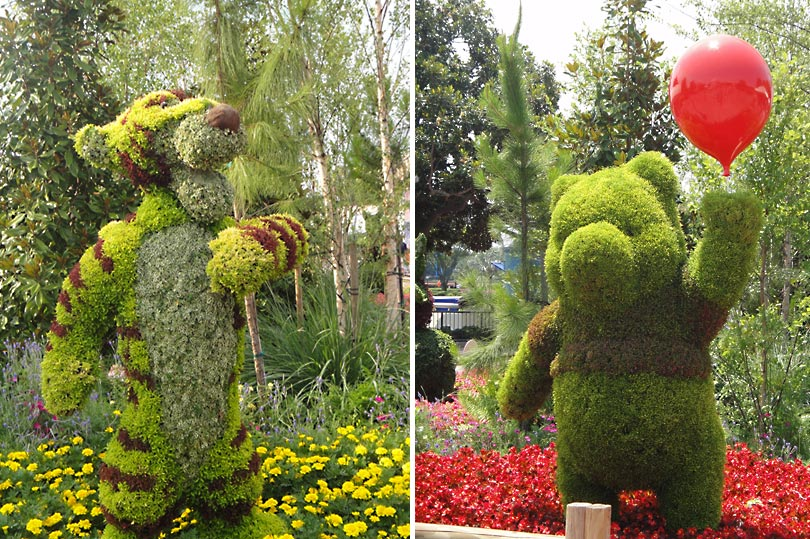 Tigger and Pooh topiary at Epcot during the Flower & Garden festival