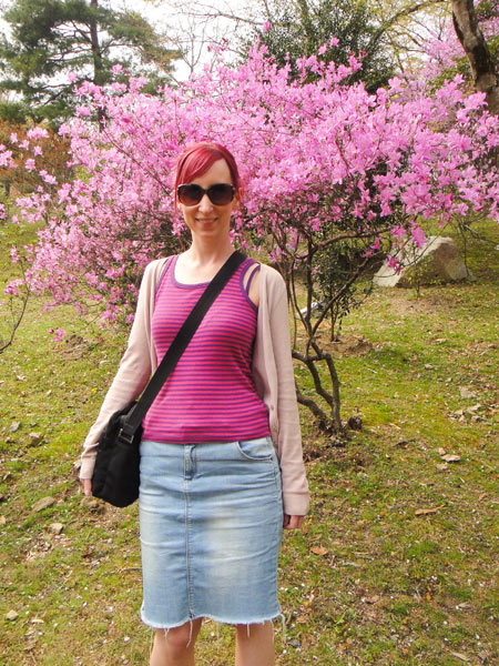 Pink and more pink in Arashiyama, Japan