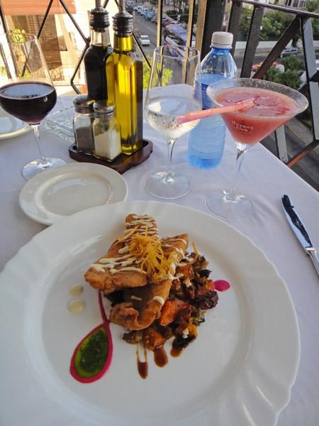 Enjoy a meal at Cafe Laurent, Vedado, Havana
