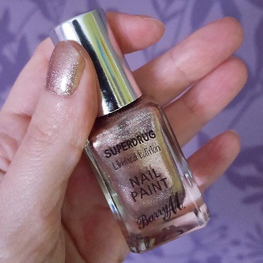 Barry M Twinkle Twinkle Limited Edition rose gold colour cruelty free nail polish