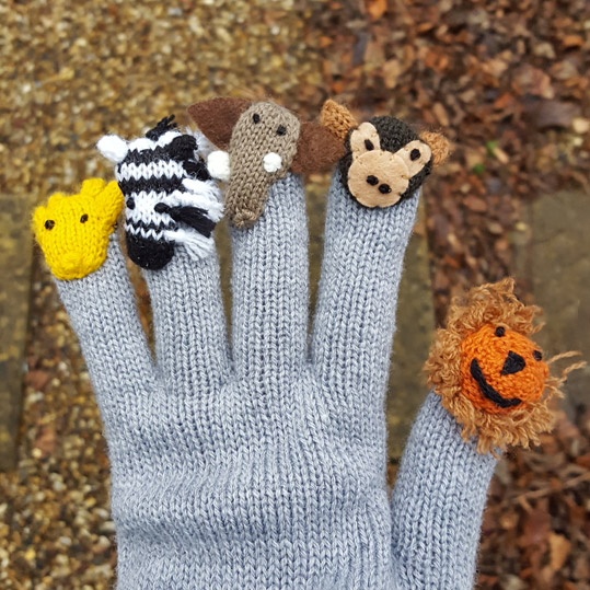 Safari animal gloves