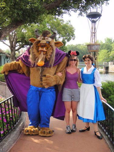 Meeting Beauty and the Beast at Epcot