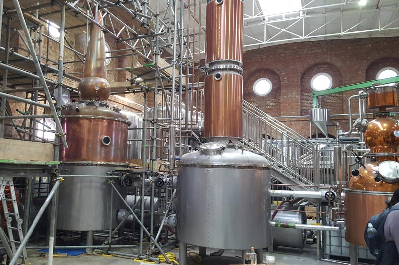 The stills at the Copper Rivet Distillery Tour in Chatham Dockyard