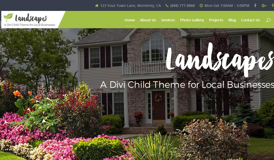 Introducing Landscapes, A Premium Divi Child Theme