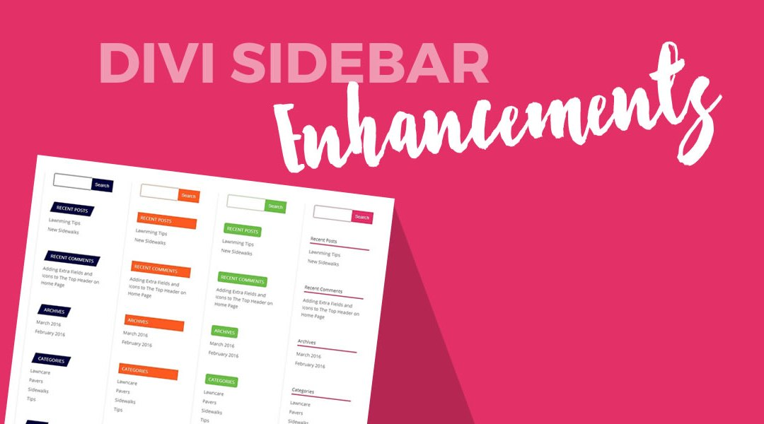 Modify Your Divi Search Widget and Widget Titles
