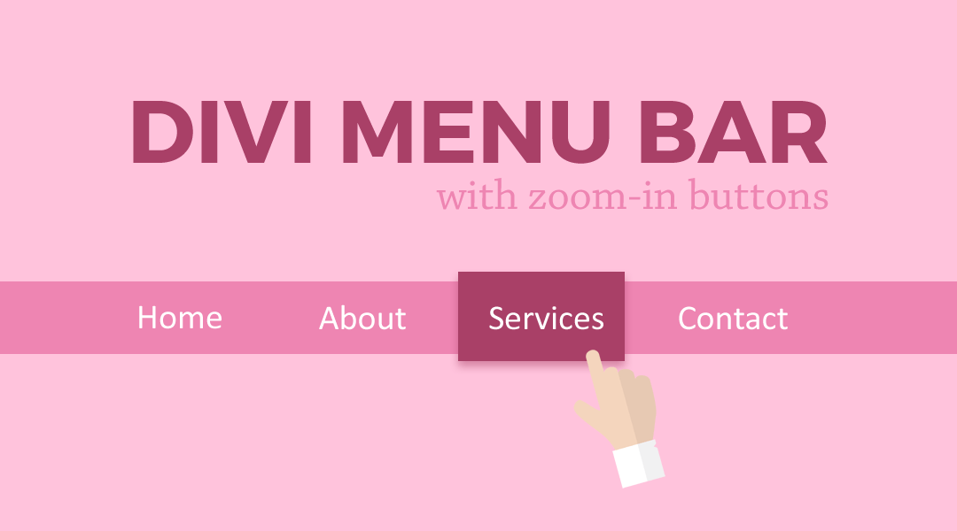 Divi menu bar with zoom in buttons - Divi mobile menu ...