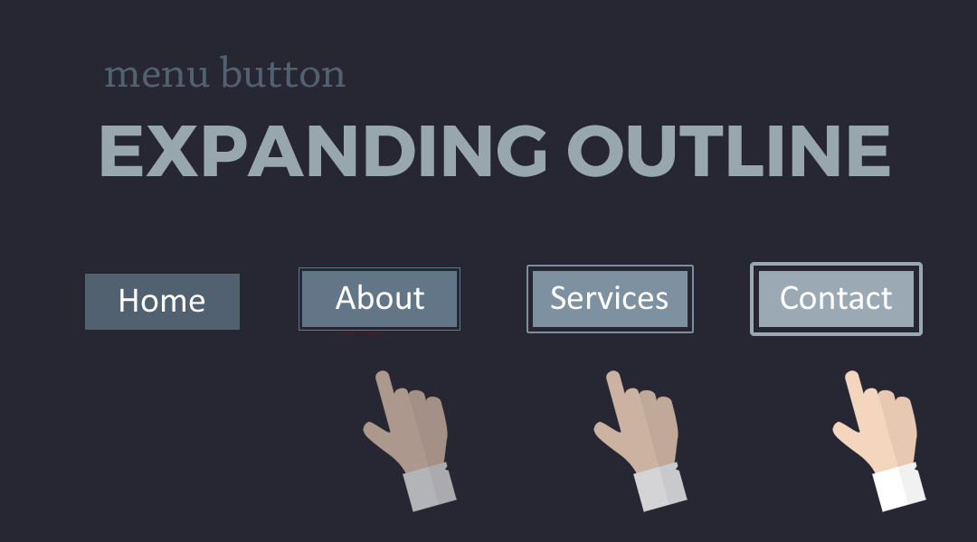 Divi Menu Buttons With an Expanding Outline