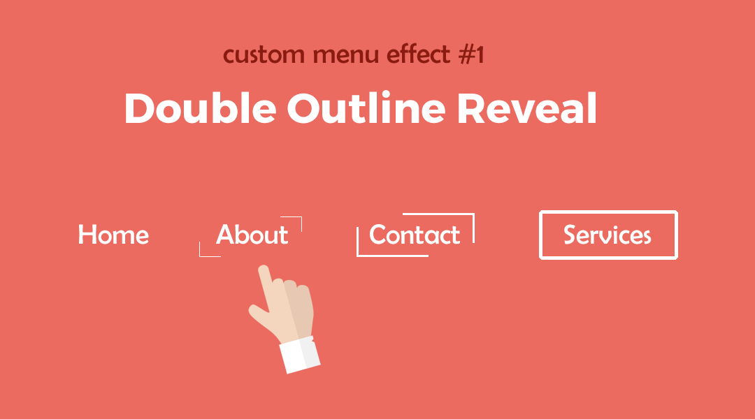 Divi Menu Double Outline Reveal