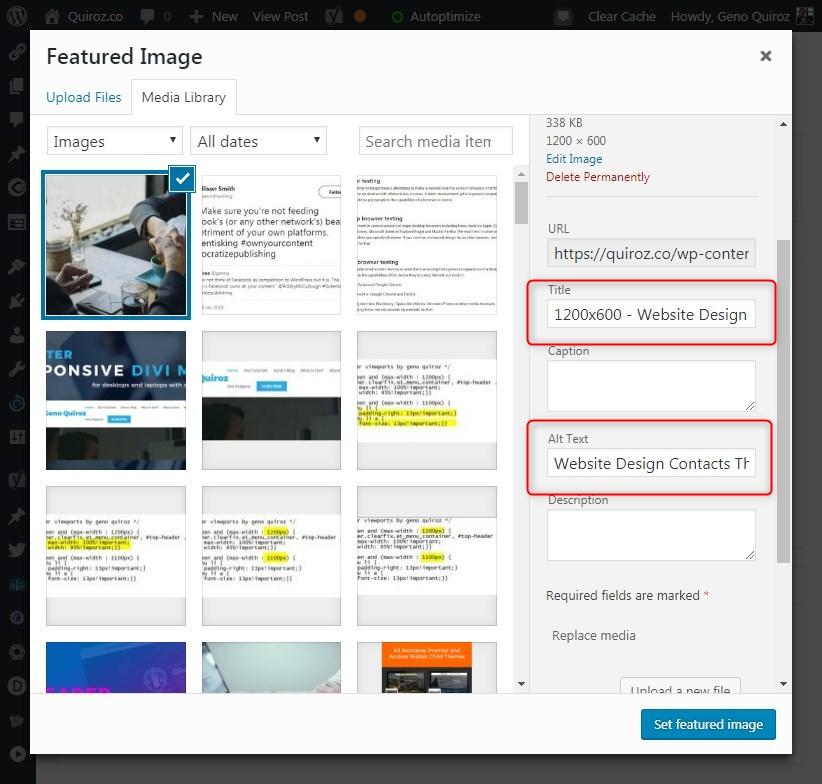 blogging tips alt text image