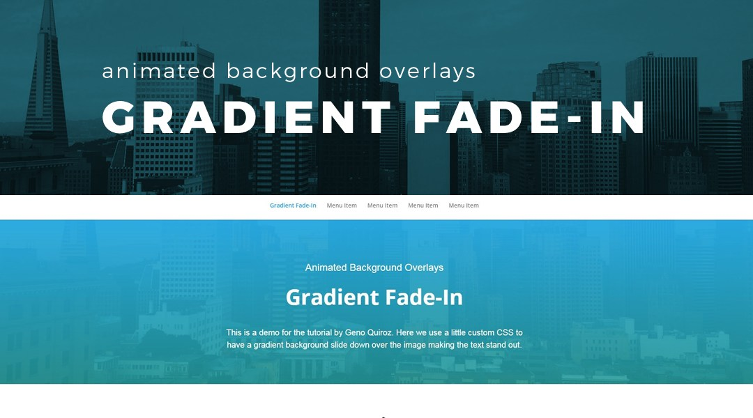 Animated Background Gradient Fade-in Overlay