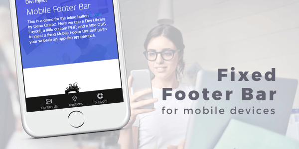 Divi Fixed Footer Bar For Mobile Devices Image