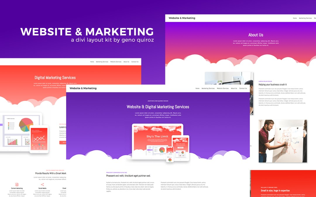 Get a FREE Website & Marketing Agency Layout Pack for Divi