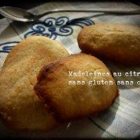 Madeleines au citron sans gluten sans oeufs