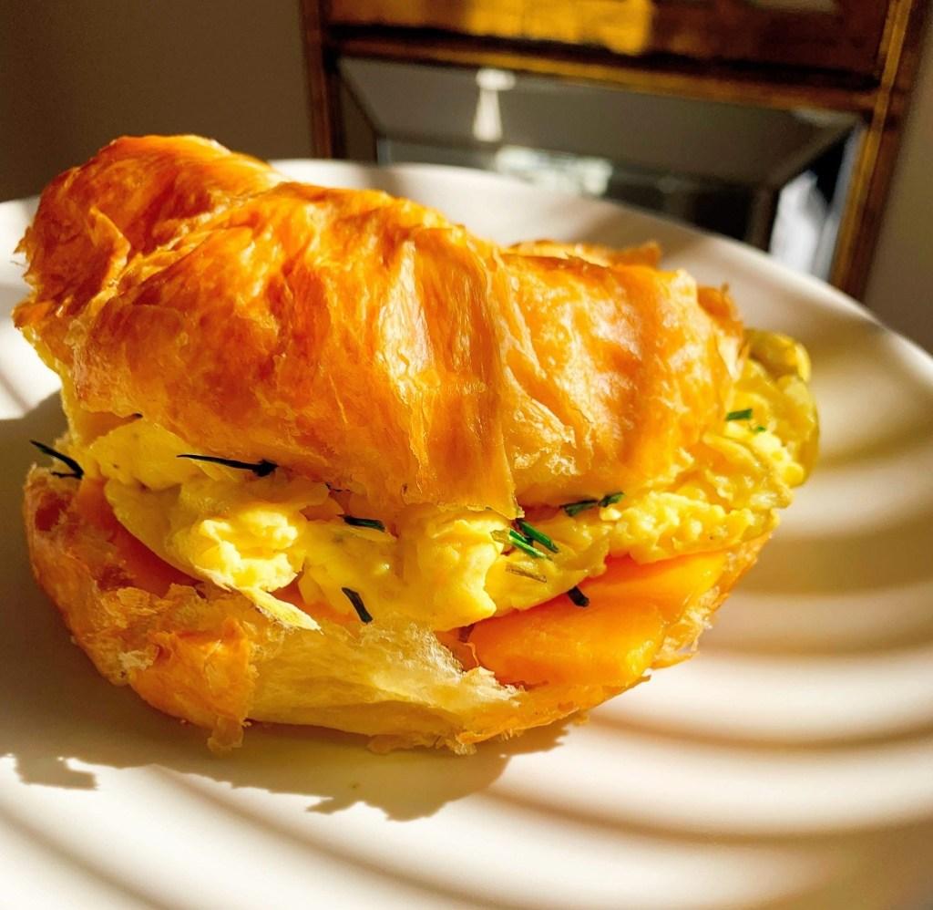White Truffle Croissant Sandwich_closeup