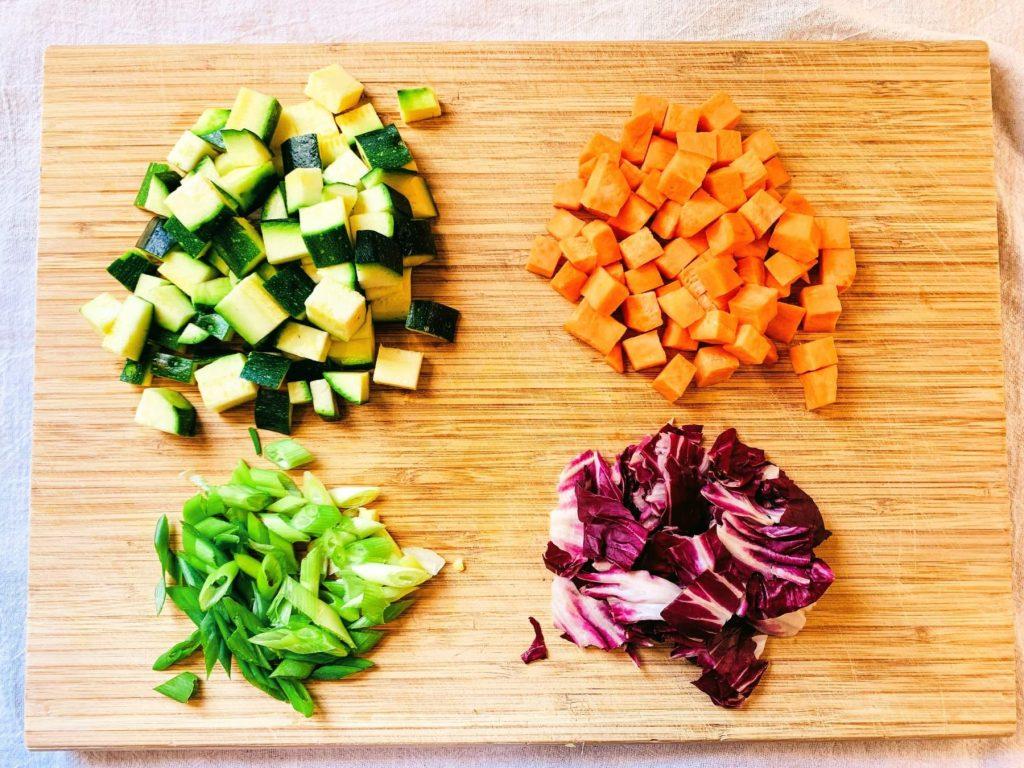 Veggie Quinoa Bowl_veg prep