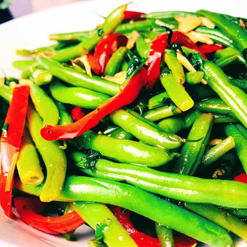 Cilantro Pepper Green Beans_closeup