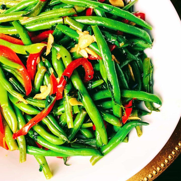 Cilantro Pepper Green Beans Recipe_top