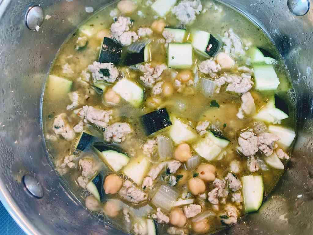 Mediterranean Chicken Soup_simmer