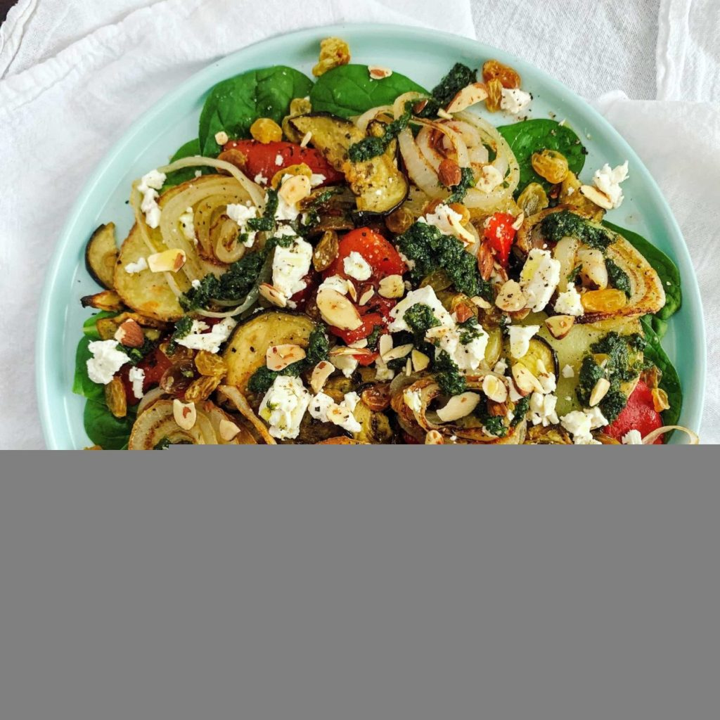Warm Roasted Veg Salad_topview