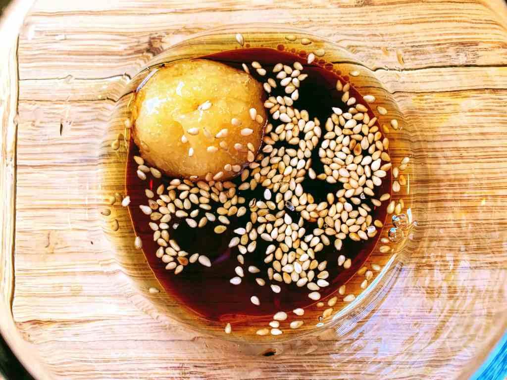 Orange Ginger Salmon_sesame sauce for veggies