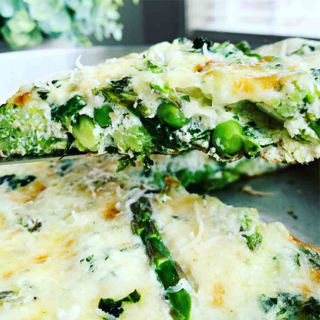 Egg White Frittata Green Veg_slice closeup