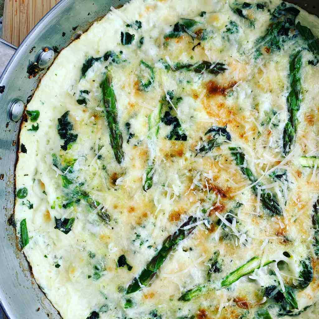 Egg White Frittata Green Veg_topview