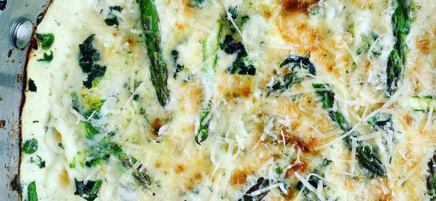 Egg White Frittata with Green Veggies & Cheese