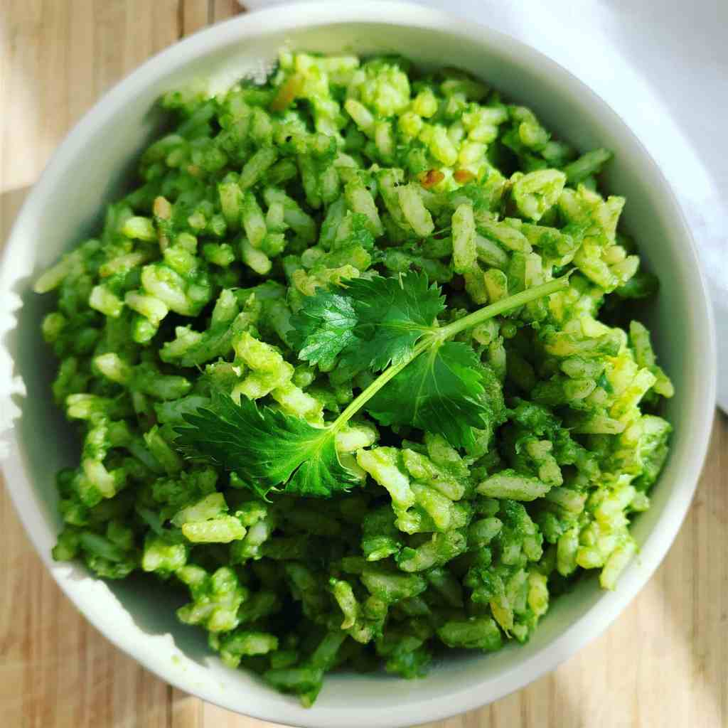 Mexican Green Rice_top close full