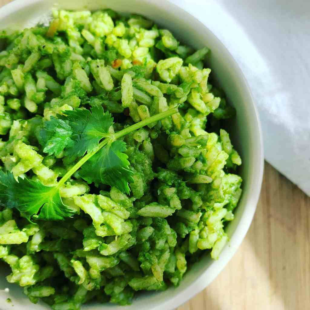Mexican Green Rice_top close left