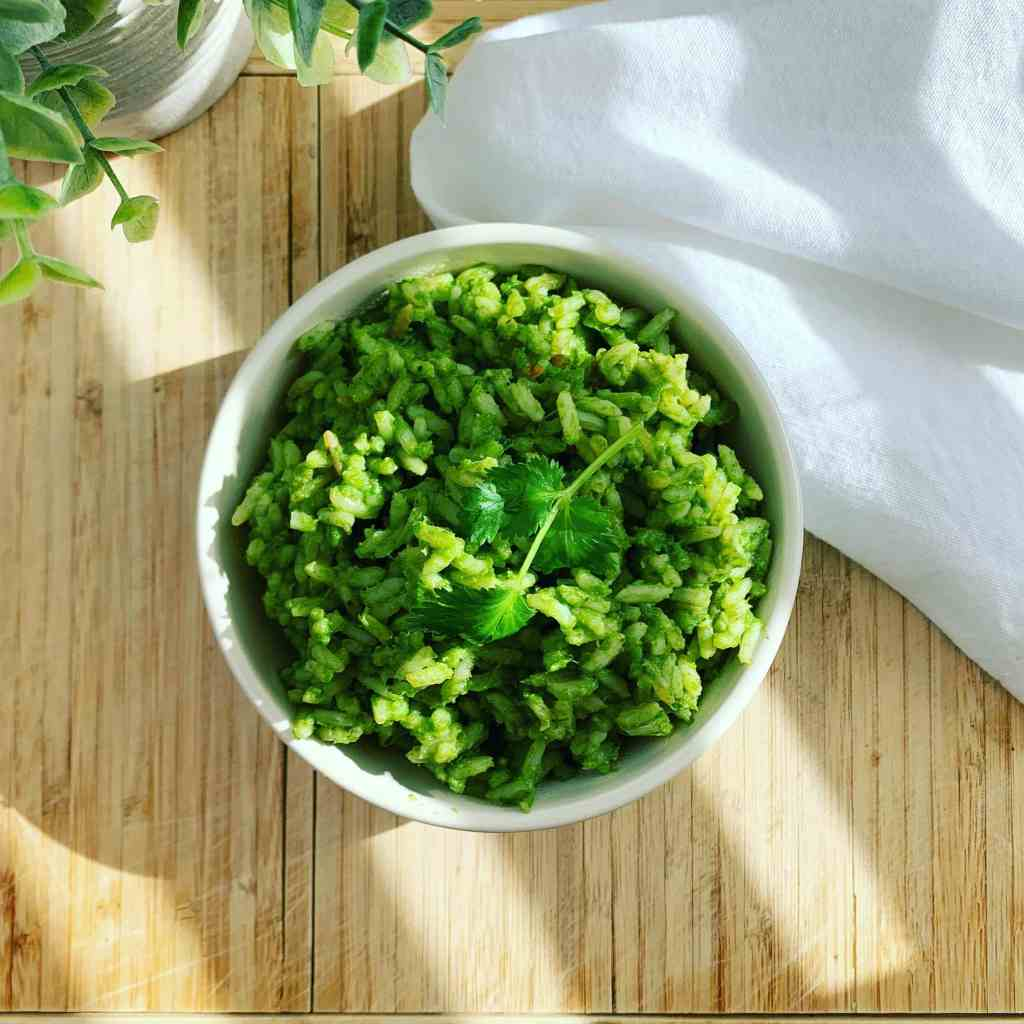 Mexican Green Rice_topview