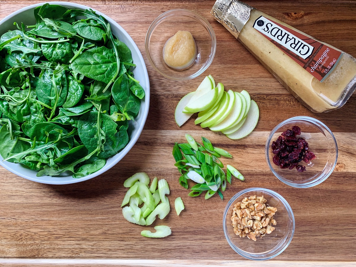 Green Apple Spinach Salad_ingredients 2_1200px