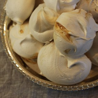 Aquafaba coffee meringues