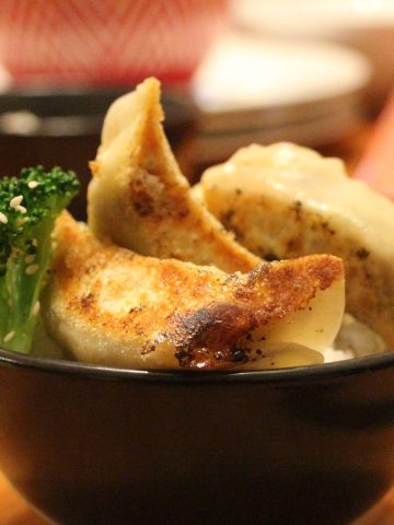Gyoza-style vegetable dumplings
