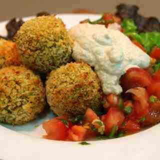 Curried kumara and quinoa balls.