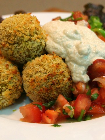 Curried kumara and quinoa balls.