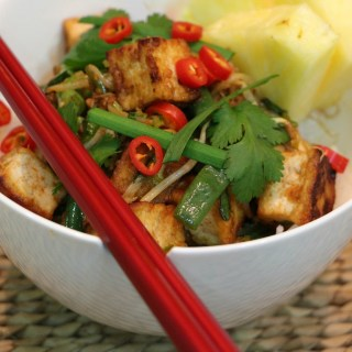 Tofu and bean sprout stirfry
