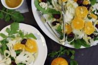 Fennel, orange and cauliflower salad.
