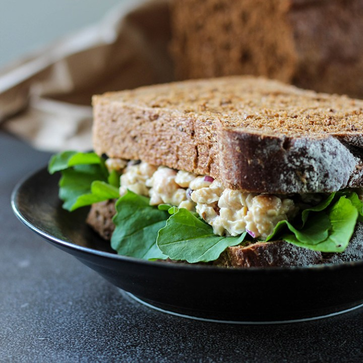 Chickpea salad sandwich.