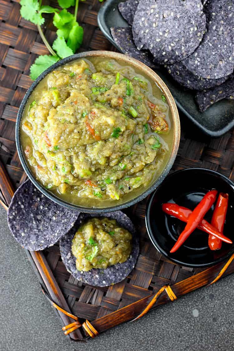 Lao style eggplant dip.