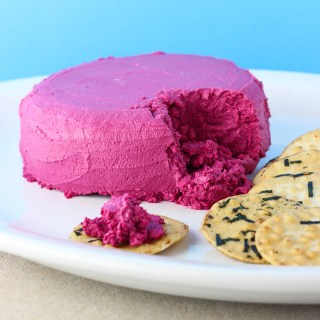 Beetroot and cashew pate.