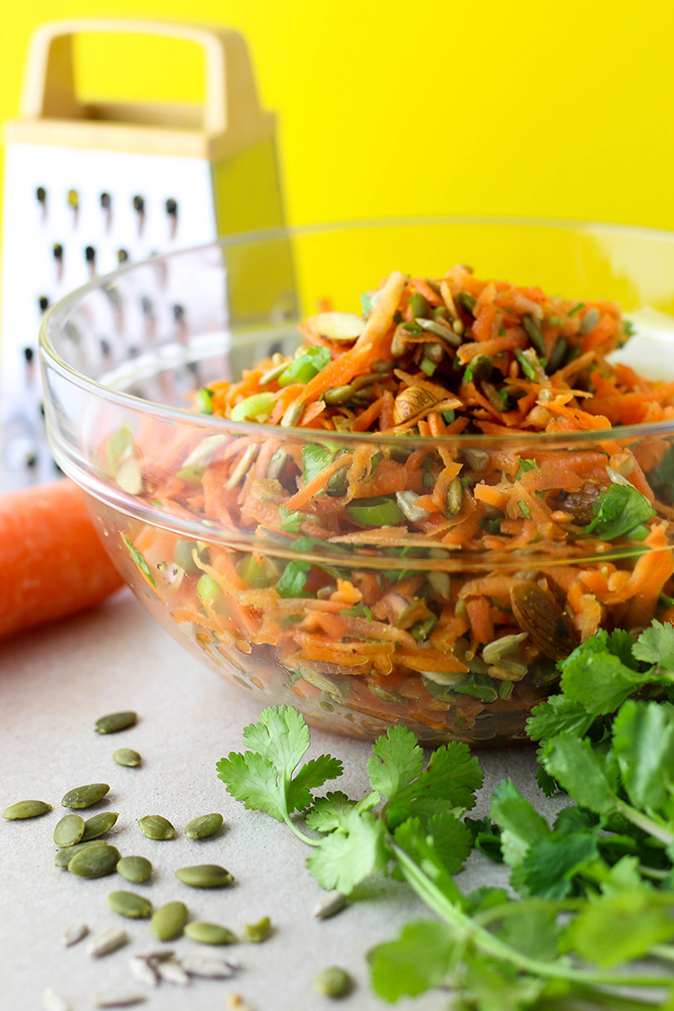 Carrot and seed salad.