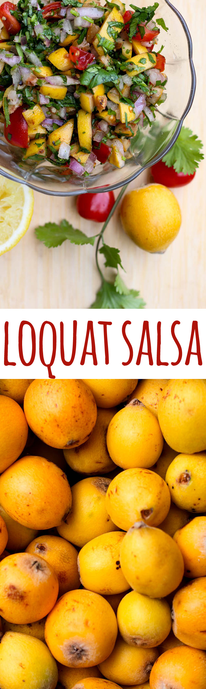 Sharp and tangy loquats are great in this simple salsa.
