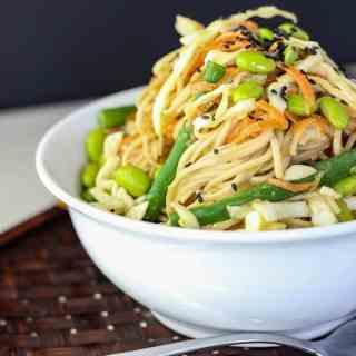 Soba noodle salad.