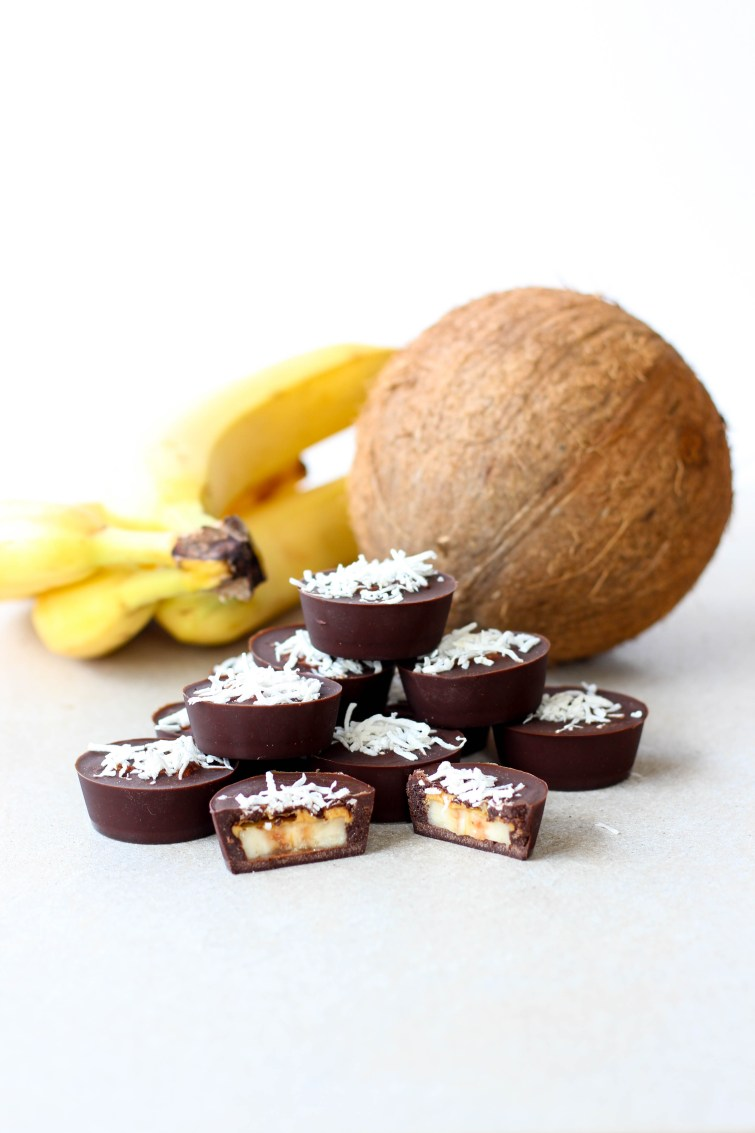 Cacao and banana freezer treats.