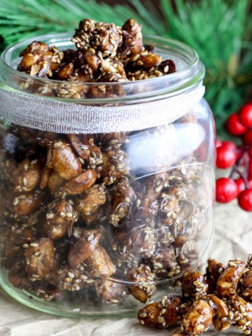 Dad's nuts: candied chilli sesame peanuts